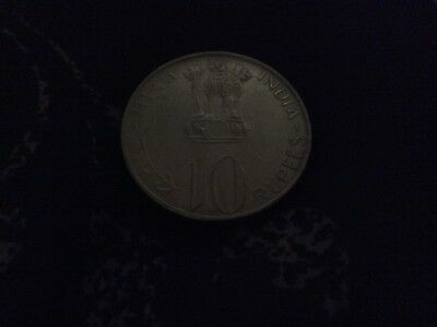10 Rupee Coin from India commemerating 25 years of freedom 1947 to 1972