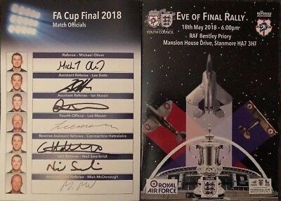 FA Cup Final 2018 - Chelsea v Manchester Utd signed Eve of Final Rally programme