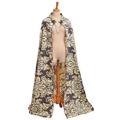 Vintage Renaissance Court Style Cloak Women Party Cosplay Queen Baroque Cape