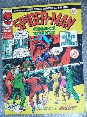 Marvel Comic- Spider Man Comics Weekly-To Smash the Spider!, No.120, 31 May 1975