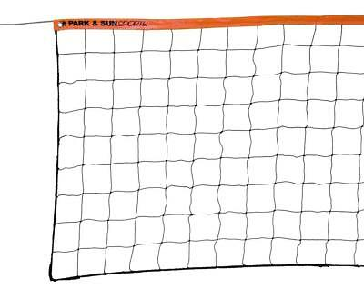 Volleyball Net Set Outdoor Indoor Regulation Size with Steel Cable Top 3 x 32-ft