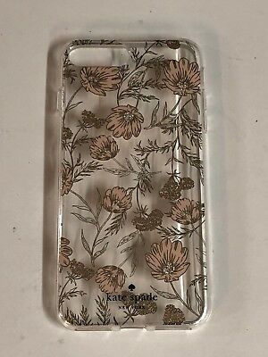 Kate Spade NY Flexible Hardshell Case for iPhone 8 plus 7 Plus Blossom Pink Gold