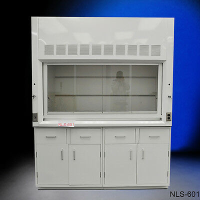 Brand new white Chemical 6' Fume Hood with Epoxy Top & GENERAL STORAGE Cabinets
