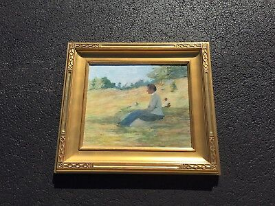RARE Antique 19th Century Oil Painting, Lucy Hariot Booth Original
