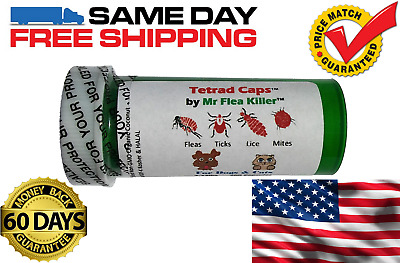 8 Capsules Tetrad Cap Dog Cat 2-13lb Rapid Flea Tick Lice Pill Killer Control 1