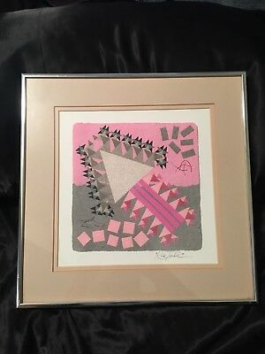 Rick Tunkel Abstract Art Signed/Autographed Beautiful Heavy Duty Frame