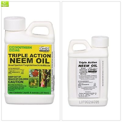 Triple-Action 8 oz. Neem Oil Natural Fungicide Insecticide Miticide Leaf Polish