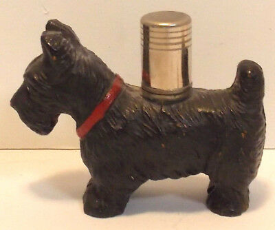 Vintage 1940s Black Scottie Dog Cigarette Lighter Tobacciana Butane