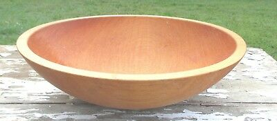 "Antique Primitive 13-1/2"" BUTTER BOWL Hand Turned Solid VA Maple Hardly Used!"