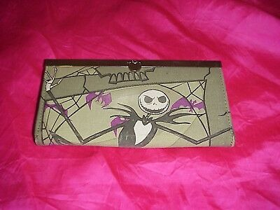 Disney, Nightmare Before Christmas Fabric Clutch Wallet Jack Skellington