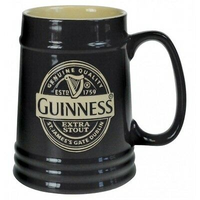 Guinness Black Label Ceramic Tankard Irish Ireland Dublin Beer Stein New
