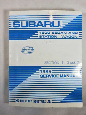 1985 Subaru 1800 sedan & wagon factory service manual