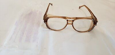 Vintage AO American Optical Aerosite Z87 Safety Glasses Amber Brown
