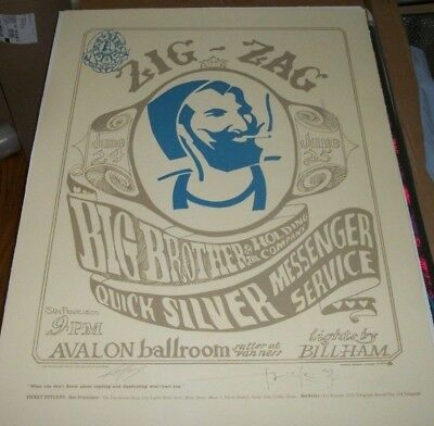 Zig Zag Man Lithograph Poster #155/500 Signed Alton Kelley & Stanley Mouse FD-14