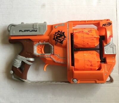 NERF N-Strike Zombie *FLIP FURY* Toy Dart Gun Blaster Weapon Cosplay (TESTED)