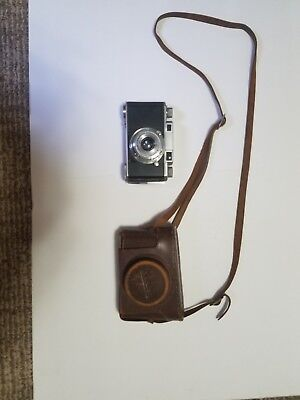 Rare Vintage Konica Camera And Case Made In Occupied Japan #6937