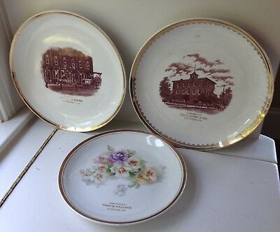 Vintage Gerhart & Moyer Robesonia Wernersville Plate Lot Of 3