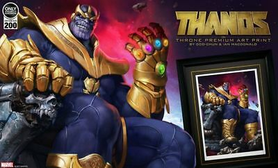 Sideshow Collectibles Thanos on Throne Premium Art Print Framed