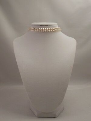 Very Cute and Sexy Two Strand, 6mm Cream Glass Pearl Choker