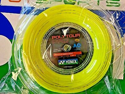 New Yonex Tennis String POLY TOUR Pro 125 200M Reel Yellow PTP 125 Made in Japan