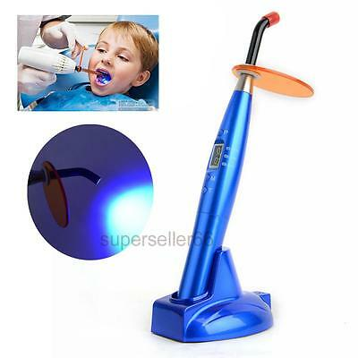 CL2 Dentist Dental 5W Wireless Cordless LED Curing Light Lamp 2000mw Handle Blue