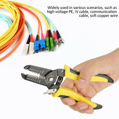 Professional  Wire Stripper Cutter Crimper Pliers Cable Stripping Crimping Tool