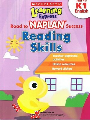 NEW Learning Express - Road To NAPLAN Success READING SKILLS K1 ENGLISH Ages 4-5