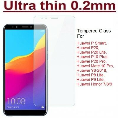 GENUINE TEMPERED GLASS SCREEN PROTECTOR COVER FOR HUAWEI P Smart / MATE10 Pro