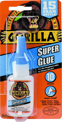 Gorilla 7805009 Super Glue, 15 g, Bottle, White Water/Straw, Liquid