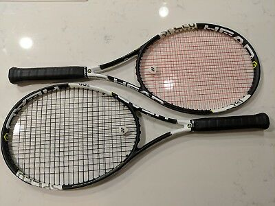 Pair of Head Graphene XT Speed Pro tennis racquets, excellent almost new shape!