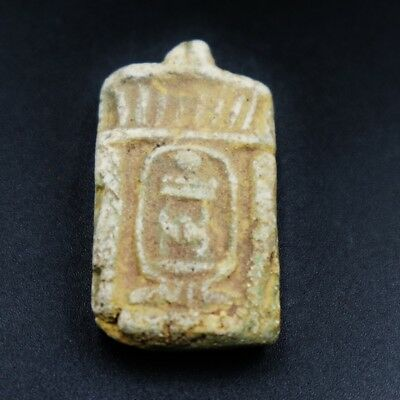 Rare Ancient Egyptian Faience Amulet Figurine, 300 BC.