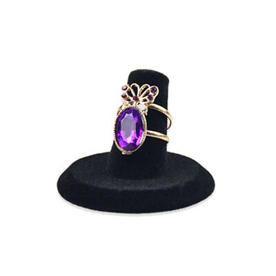Display Jewellery Black Ring Stand Holder Velvet Jewelry Display Stand Holder
