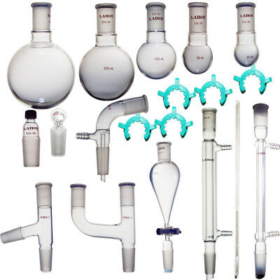 New Laboy Glass Organic Chemistry Kit 24/40 Lab Glassware Set Lab Glass Kit