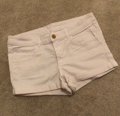Girls Shorts White Age 12 To 13 Years H&M Generous Fit