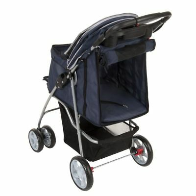 Sporty Pet Stroller for Small Dogs Cats Pushchair Pram Buggy Foldable Trolley