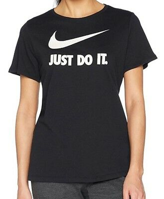 488786b7 NIKE WOMEN'S METALLIC Just Do It Long Sleeve S Black T Shirt Tee Gym ...