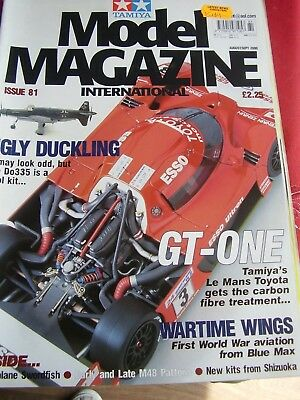 Tamiya International Model Magazine 2000 # 81 Le Mans Toyota Gt One Ts020 M48