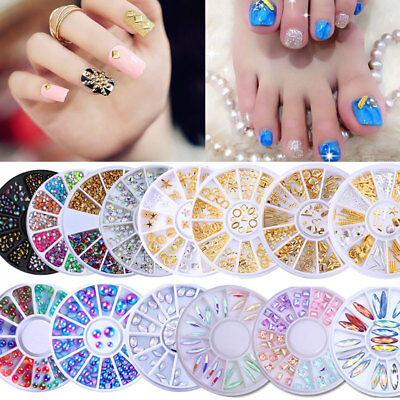 Nail Art 3D Jewelry Nail Decoration Glitter Rhinestone Crystal Fimo Gel UV Tips