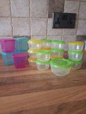 assorted baby food freezer container pots and lids (20)