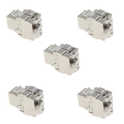 5x RJ45 Cat6 Zink Jack Ethernet Anlege Cat6 Netzwerk LAN Modul Adapter