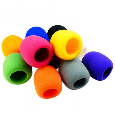 10 Pack Colorful Handheld Stage Microphone Windscreen Foam Mic Cover DJ