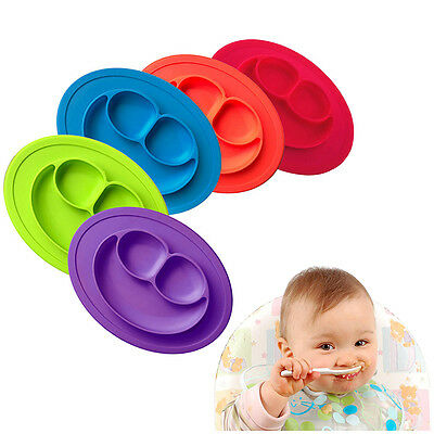 Baby Silicone Mat Suction Table Food Tray Placemat Plate Bowl Cute Dish