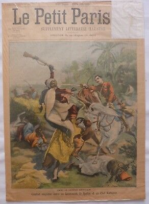Antique Print Petit Journal French Newspaper Africa