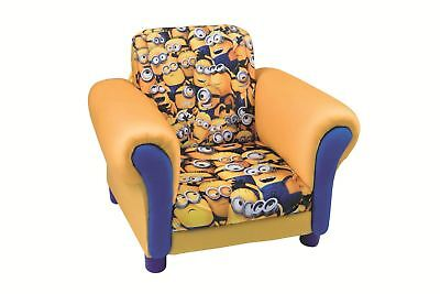 Minions Kids Upholstered Fabric Armchair Sofa Furniture For Bedroom / Playroom