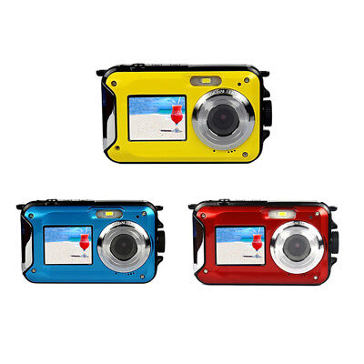 "2.7"" Waterproof Double Screen Digital Travel Full HD Compact Camera Optical Zoom"