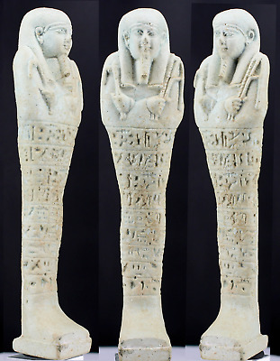 Egyptian Shabti for Nesptah priest sameref, prophet of Isis ca. 16.2cm.