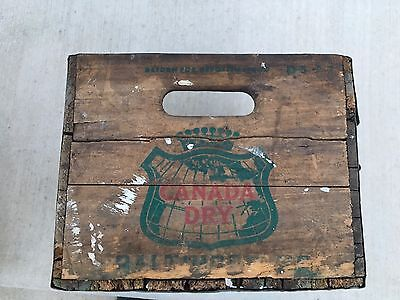 JUST REDUCED!!!  Vintage Canada Dry Wooden Crate