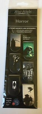 Magnetic Bookmarks-6 themed magnetic mini bookmarks BRAND NEW