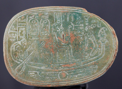 Hartor Scarab with cartouche of Ramses I - 6,2 cm.