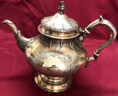 Antique Sterling Silver George Ii Period Style Teapot 1168 Grams No Monogram